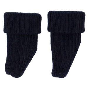 Meias lã azul escuro