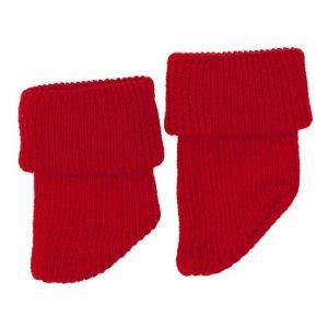 Meias lã vermelhas